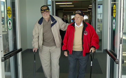 Two vets brought together again